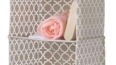Béžový závěsný organizér do šatní skříně Compactor, šířka 30cm