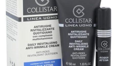 Collistar Men Daily Revitalizing dárková kazeta proti vráskám pro muže pleťový krém Daily Revitalizing 50 ml + toaletní voda Acqua Attiva 7,5 ml