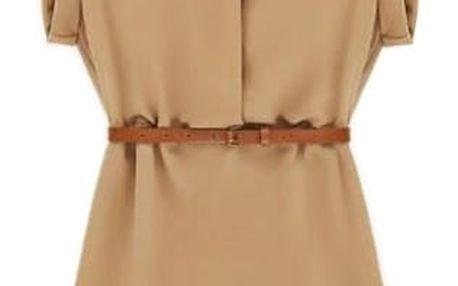 Letní košilové šaty - béžová, velikost 5