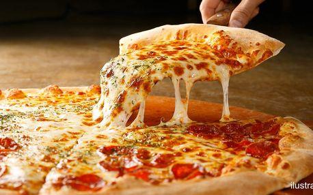 Dvě křupavé pizzy dle vlastního výběru