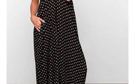 Letní šaty dlouhé - černá, velikost 4
