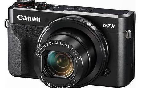 Digitální fotoaparát Canon PowerShot G7X Mark II (1066C002) černý Paměťová karta Kingston SDXC 64GB UHS-I U3 (90R/80W) (zdarma) + cashback + Doprava zdarma