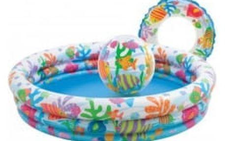 INTEX 59469 Rybičky set bazén+míč+kruh
