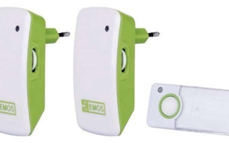 Zvonek bezdrátový EMOS P5742, do zásuvky, 100m (3402042000) bílý/zelený