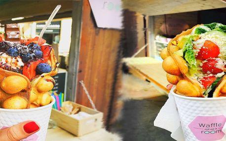 40% sleva na Hongkongské bubble waffle + nápoj v centru Prahy