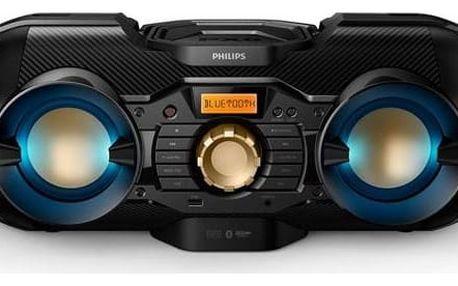 Radiopřijímač Philips PX 840T s CD/MP3/USB/BT černý Sluchátka Philips SHE3700BK - černá (zdarma) + Doprava zdarma