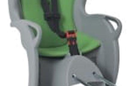 HAMAX Kiss šedá / zelená cyklosedačka