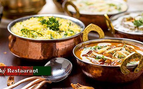 Indické masové menu pro dva v restauraci Taj Mahal: 2x hl. chod + 2x příloha