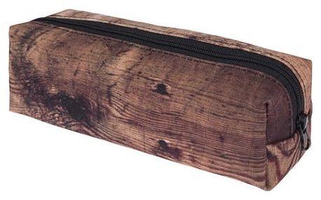Kosmetická taštička v podobě dřevěného polena
