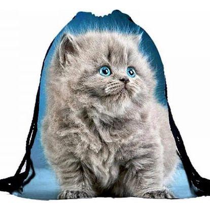 Vak na záda s roztomilým koťátkem