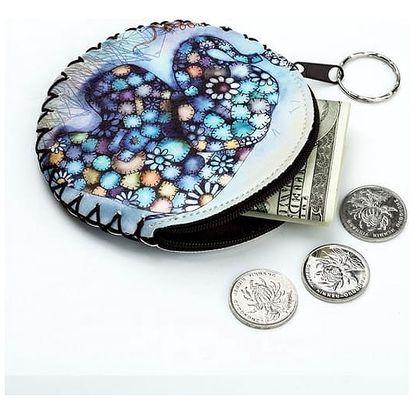 Mini peněženka na mince se sovičkami