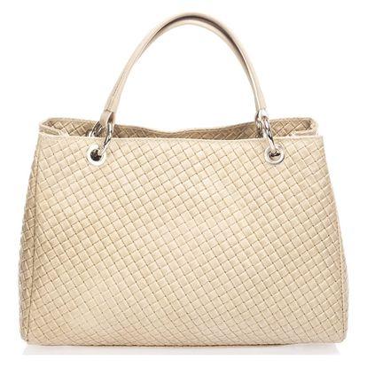 Béžová kožená kabelka Massimo Castelli Jaymie - doprava zdarma!