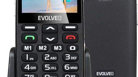 Evolveo EasyPhone XD s nabíjecím stojánkem, černá - EP-600-XDB