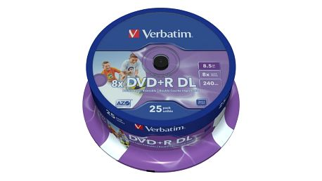 Verbatim DVD+R Printable DL 8x 8,5GB spindle 25ks - 43667
