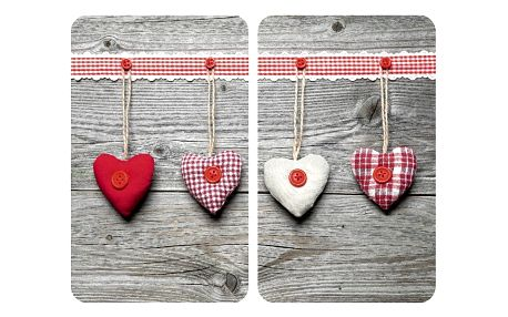 Sada 2 skleněných krytů na sporák Wenko Hearts