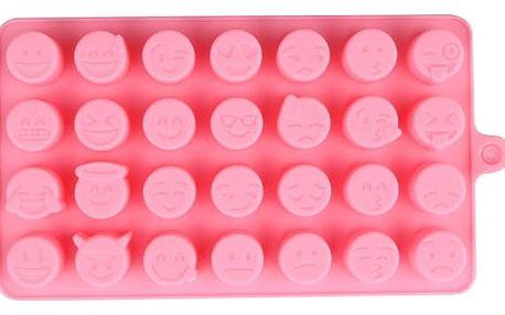 Silikonová forma na led či čokoládu - Smajlíci