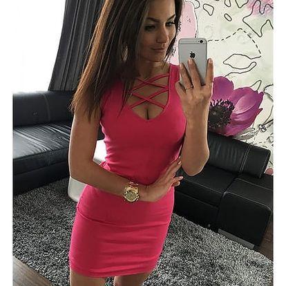 Upnuté šaty s výstřihem - 5 barev
