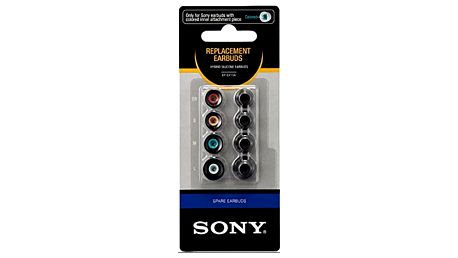 Sony sluchátka EP-EX10A náhradní silikonové koncovky, černá - EPEX10AB.AE