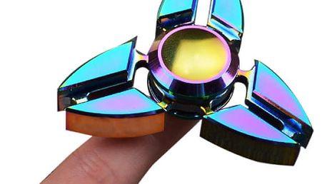 Trojcípý fidget spinner duhový
