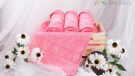XPOSE ® Bambusová osuška MAYA - růžová 70x140 cm