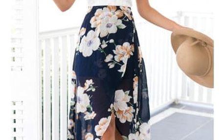 Dámské šaty s krajkou a vzdušnou sukní