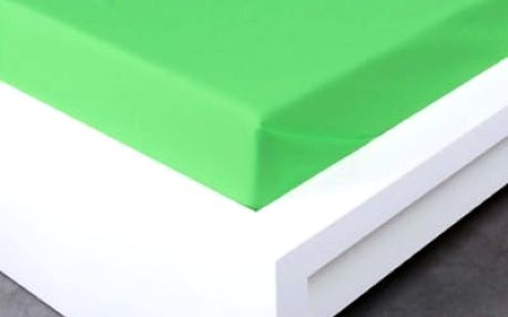 XPOSE ® Bavlněné prostěradlo - letní zelená 140x225 cm