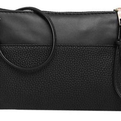 Dámská kabelka do města v drobném stylu - černá barva - dodání do 2 dnů