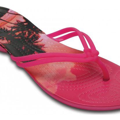 Crocs dámské růžové žabky Isabella Graphic Candy Pink - W9