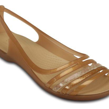 Crocs bronzové sandály Isabella Huarache Flat Bronze - W8