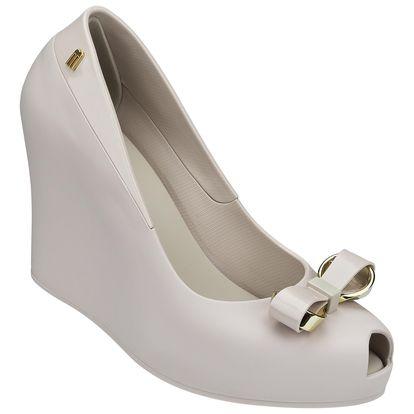 Melissa béžové boty na klínku Queen Wedge II Beige - 40
