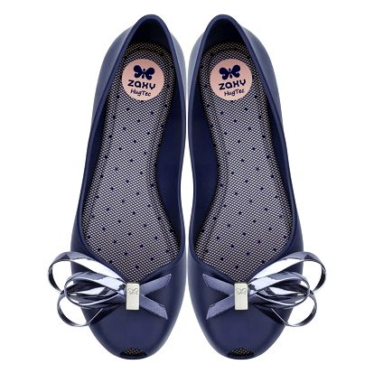 Zaxy tmavě modré dámské baleríny Luxury Fem Navy - 38