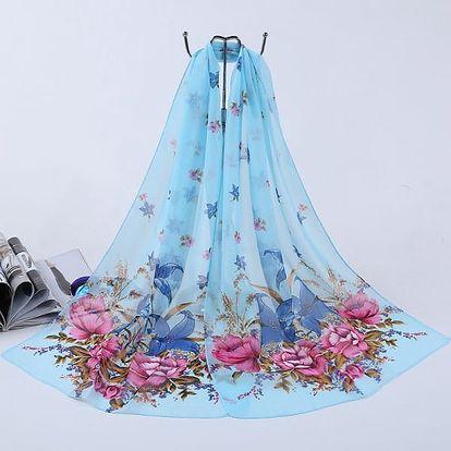 Květinový šátek přes plavky - více barev