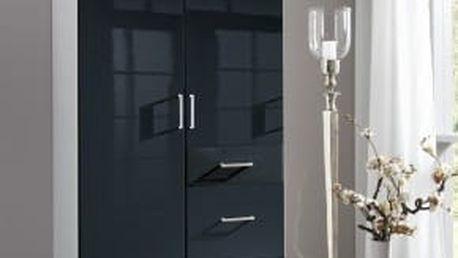 Clack - Skříň, 2x dveře (černá, bílá)