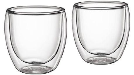Cilio Set skleněných šálků na kávu 250 ml 2 ks