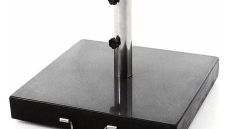Podstavec pro slunečníky čtvercový žula - 50 kg černý