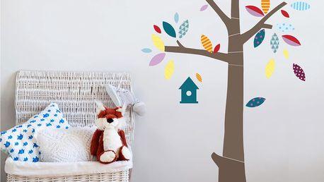 Samolepka na stěnu House Decor Strom s barevnými lístky + SLEVA 15 %