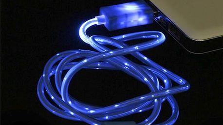 Micro USB kabel s LED podsvícením - dodání do 2 dnů