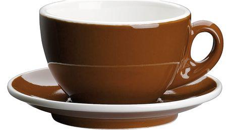 Cilio Capuccino šálek s podšálkem Roma hnědý 200 ml