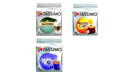 Kapsle pro espressa Tassimo Jacobs Krönung Latte Macchiato less sweet + Morning Café + Milka