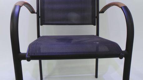 Zahradní stohovatelná židle, modrá + SLEVA 15 %