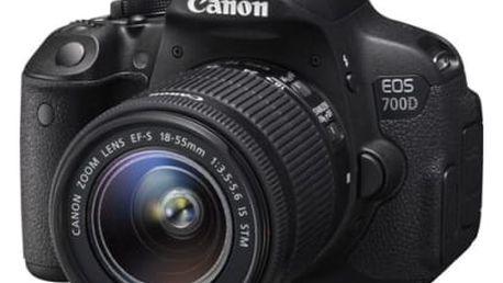 Digitální fotoaparát Canon EOS 700D;18-55 STM (8596B091) černý