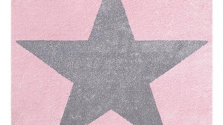 Růžovošedý dětský koberec Happy Rugs Superstar, 80x150cm - doprava zdarma!