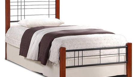 Vera - Postel 200x90, rám postele, rošt (antická třešeň, černá)