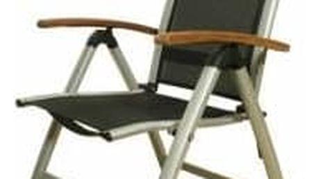 Zahradní židle Garden Brisbane SET22334038, stříbrná + SLEVA 15 %
