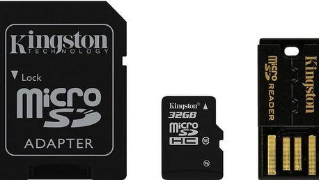 Kingston Micro SDHC 32GB Class 10 + SD adaptér + USB čtečka - MBLY10G2/32GB