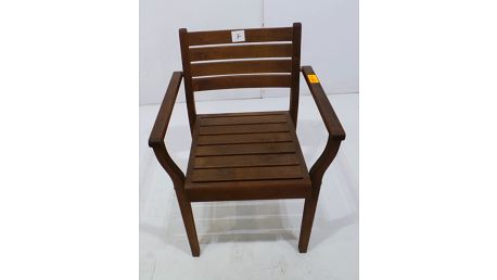 Zahradní židle Reni stohovací, dřevěná + SLEVA 15 %