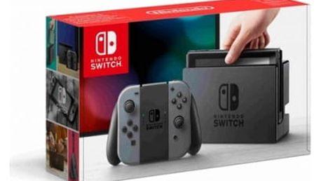 Herní konzole Nintendo Switch s Joy-Con - šedá (NSH001) šedá