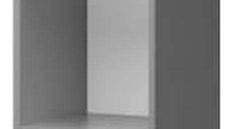 Diego 04 - Regál (přední strana bílá/šedé boky)