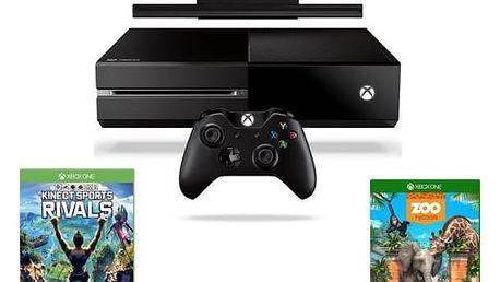 Herní konzole Microsoft Xbox One 500 GB + Kinect + Sports Rivals + Zoo Tycoon (7UV-00257) černá + Doprava zdarma