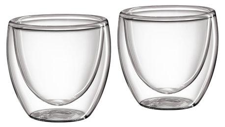 Cilio Set skleněných šálků na espresso 80 ml 2 ks